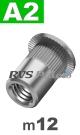 m12x23mm / per stuk - blindklinkmoer, cilinderkop A2