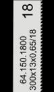 Handzaagblad HSS-Co 18 tanden-inch