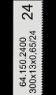 Handzaagblad HSS-Co 24 tanden-inch