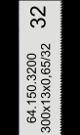 Handzaagblad HSS-Co 32 tanden-inch