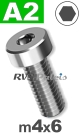 m4x6mm / per stuk - lage cilinderkopschroef A2