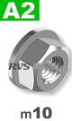 m10 / per stuk - zeskant combimoer met draaibare ring A2