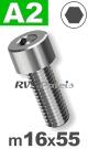 m16x55mm / per stuk - cilinderkopschroef A2