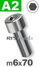 m6x70mm / per stuk - cilinderkopschroef A2