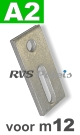m12 / per stuk - adapterplaat A2 82x40x5mm