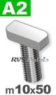 m10x50mm / per stuk - hamerkopschroef A2