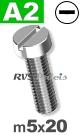 m5x20mm / per stuk - cilinder schroef A2