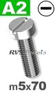 m5x70mm / per stuk - cilinder schroef A2