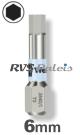 6,0mm zeskant / per stuk - RVS (INOX) 1/4 bit