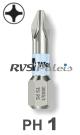 PH 1 / per stuk - RVS (INOX) 1/4 bit