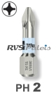 PH 2 / per stuk - RVS (INOX) 1/4 bit