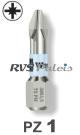 PZ 1 / per stuk - RVS (INOX) 1/4 bit