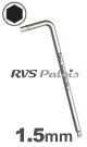 1,5mm zeskant / per stuk - RVS (INOX) inbussleutel