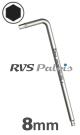 8,0mm zeskant / per stuk - RVS (INOX) inbussleutel